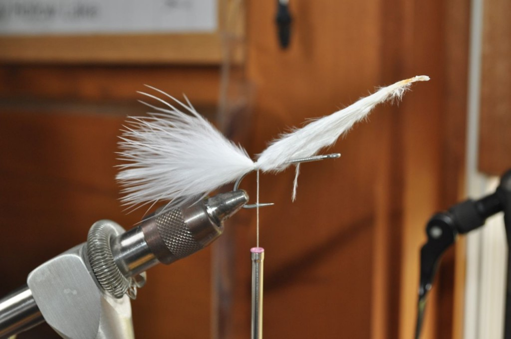 Tie in the White Marabou tail.